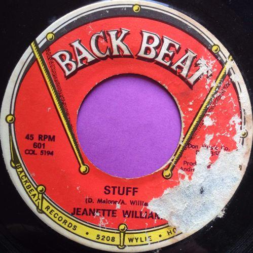 Jeanette Williams-Stuff-Backbeat label tear E
