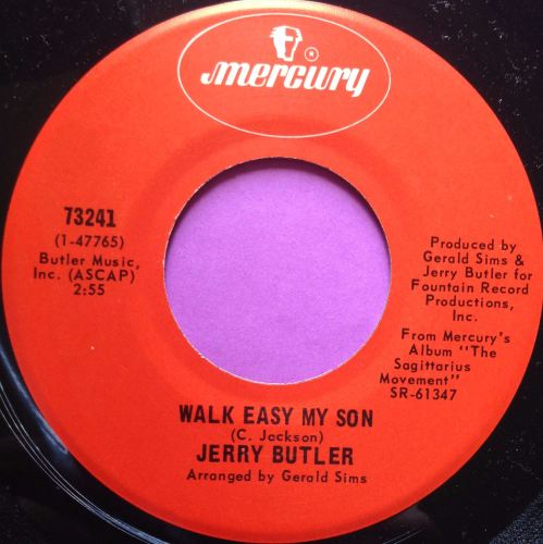 Jerry Butler-Walk easy my son-Mercury M-
