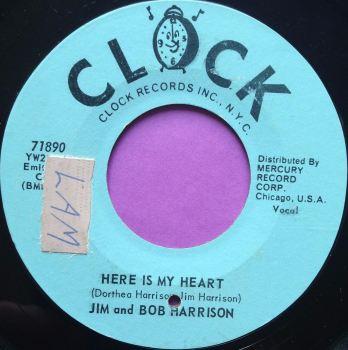 Jim and Bob Harrison-Here is my heart-Clock E+