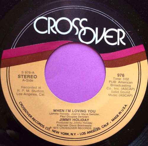 Jimmy Holiday-When i`m loving you-Crossover E+