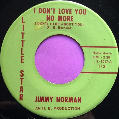 Jimmy Norman-I don`t love you no more-Little star E+