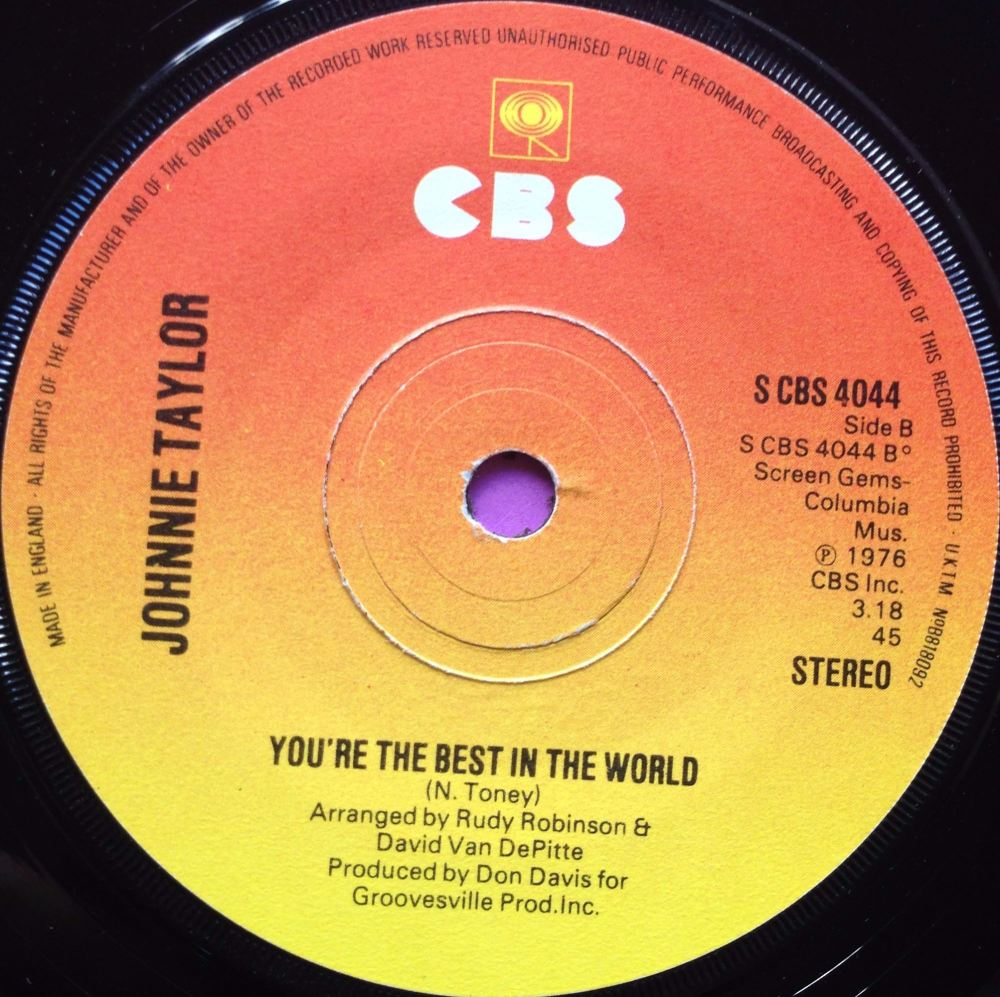 Johnnie Taylor-You`re the best in the world-CBS UK M-