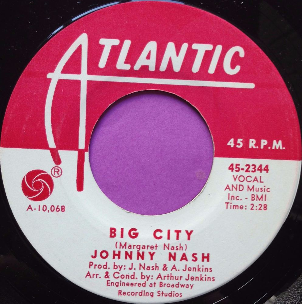 Johnny Nash-Big city-Atlantic WD E+