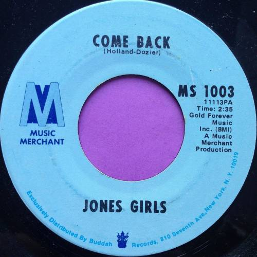 Jones Girls-Come back-Music merchant E+