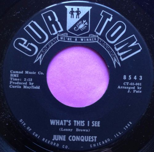 June Conquest-What`s this I see-Curtom E+