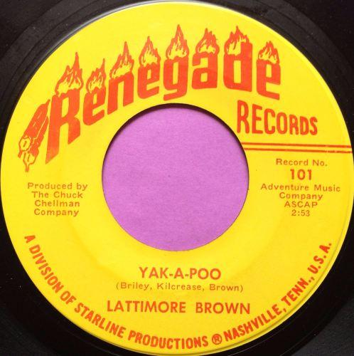 Lattimore Brown-Yak-a-poo-Renegade E
