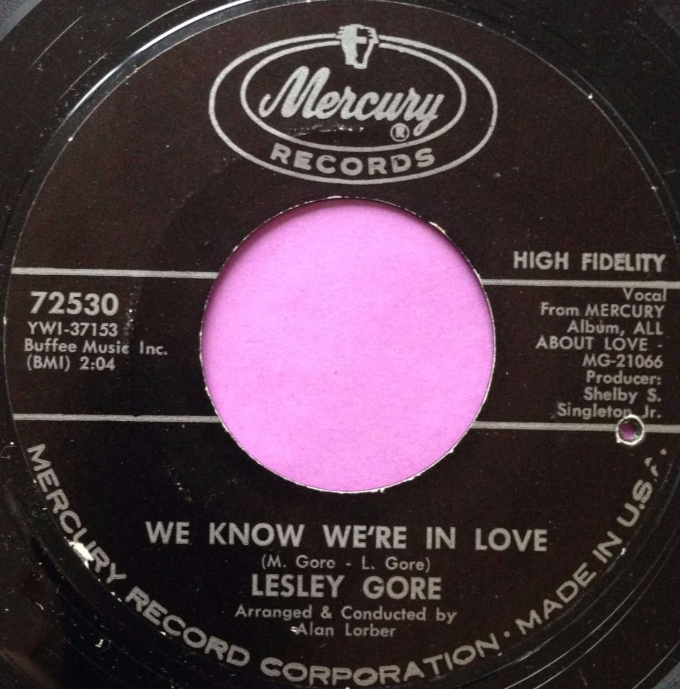 Lesley Gore- We know we're in love- Mercury E+