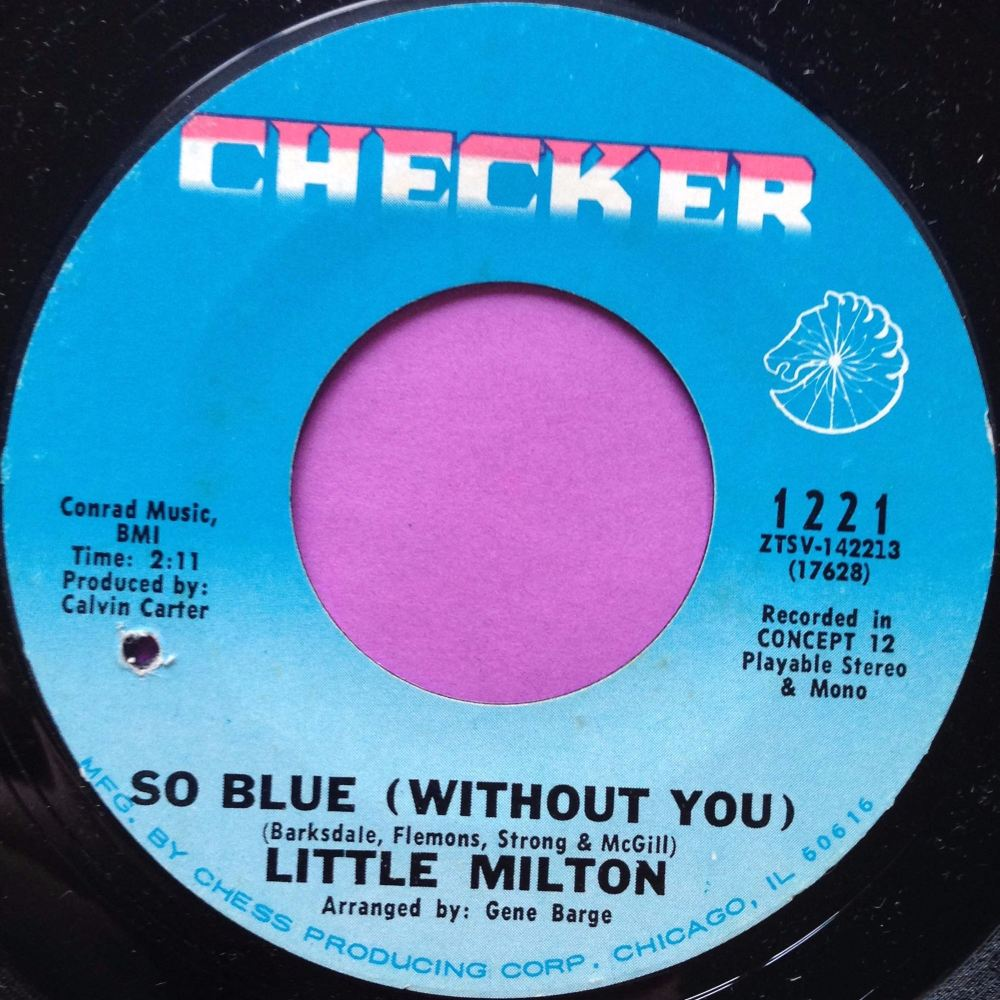 Little Milton-So blue-Checker E+