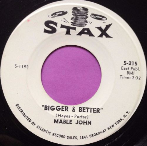 Mable John-Bigger and better-Stax WD E+