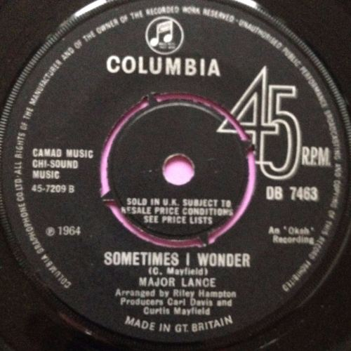 Major Lance - Sometimes I wonder - Columbia - E+