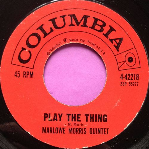 Marlowe Morris Quintet-Play the thing-Columbia E+
