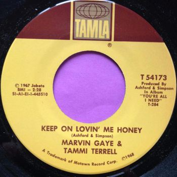 Marvin and Tammi-Keep on lovin` me honey-Tamla E+
