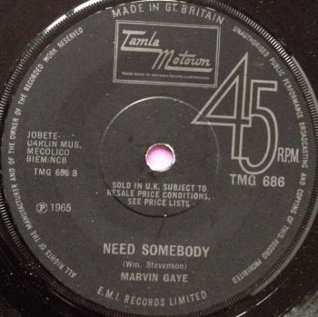 Marvin Gaye - Need Somebody - Tamla 686 - E+