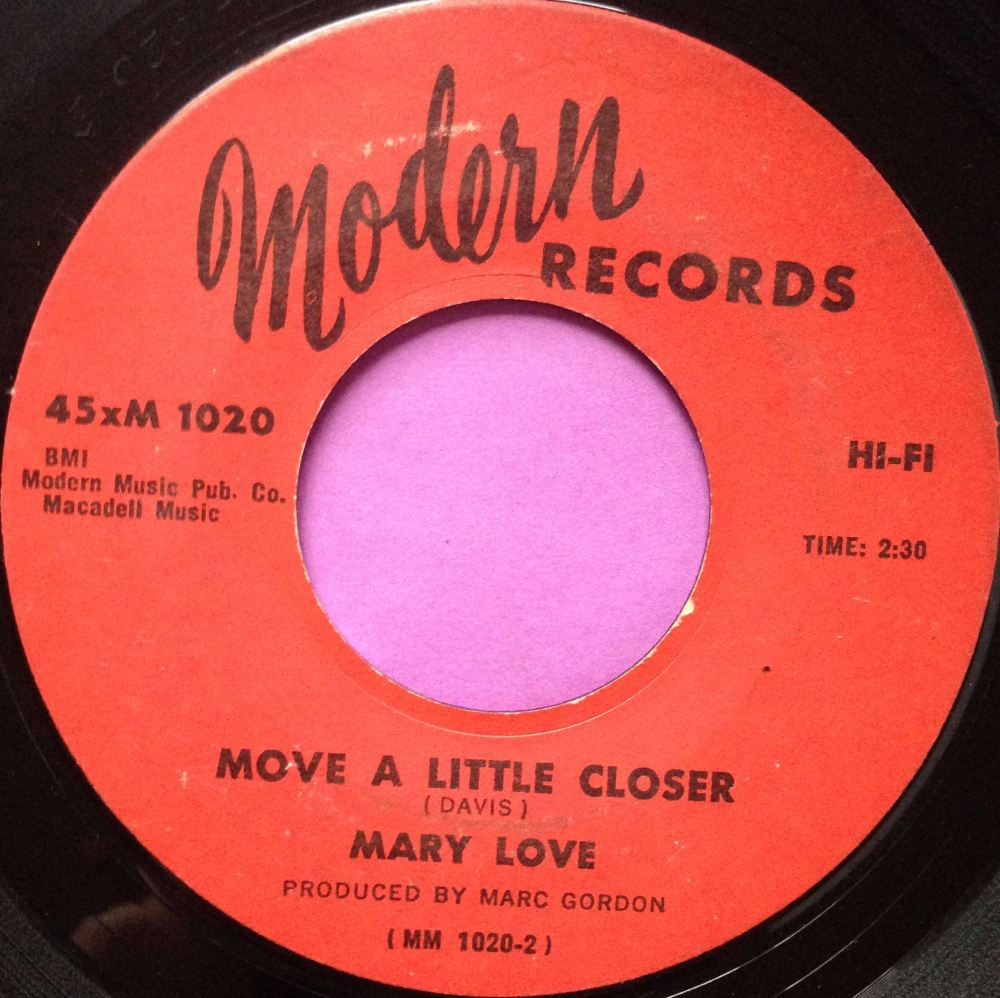 Mary Love - Move a little closer- Modern - E-