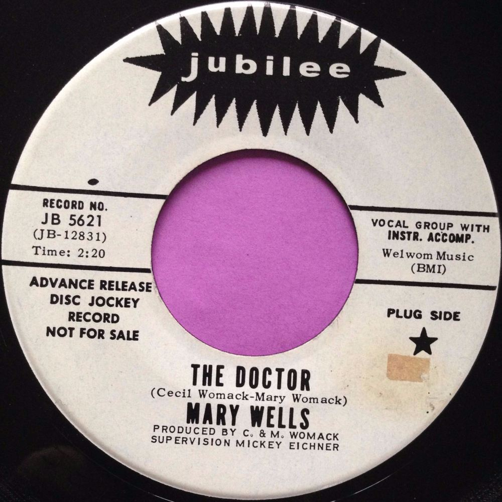 Mary Wells-The doctor-Jubilee WD E