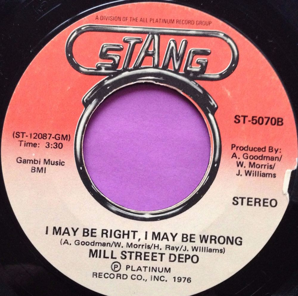 Mill St Depot-I may be right I may be wrong-Stang M-
