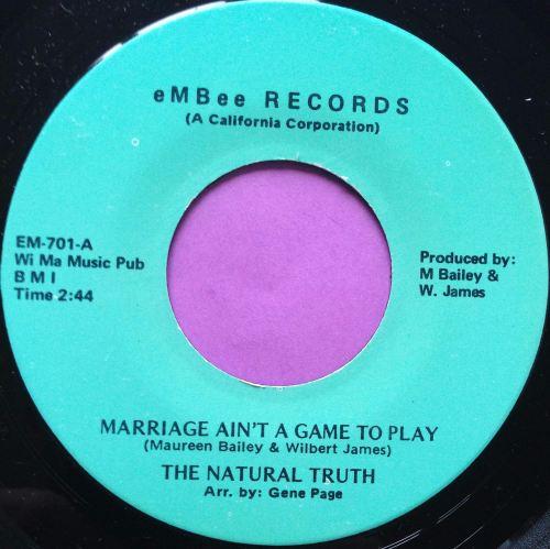 Natural Truth-Marriage ain`t a game to play-eMBee M