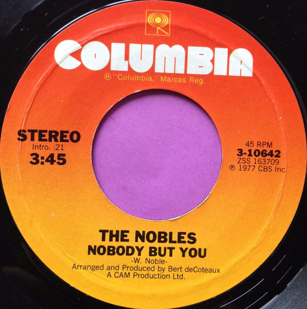 Nobles-Nobody but you-Columbia E+