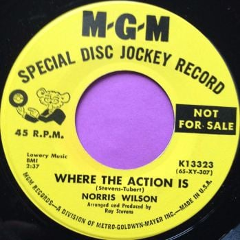 Norris Wilson-Where the action is-MGM demo M-