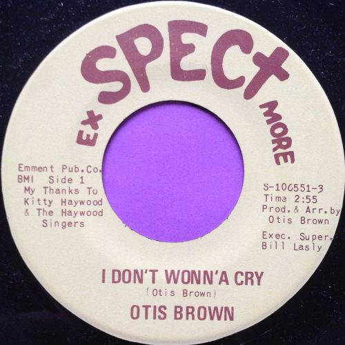 Otis Brown-I don`t wonna cry-Exspect more M-