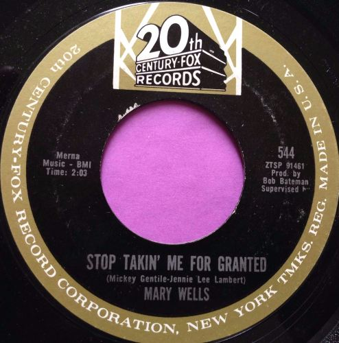 Mary Wells-Stop taking me for granted-20th Century E+