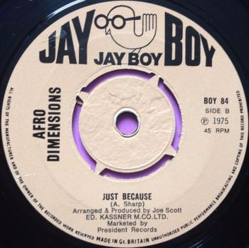 Afro Dimensions-Just because-Jayboy UK E