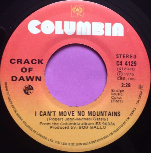 Crack of Dawn-I can`t move no mountains-Columbia E+