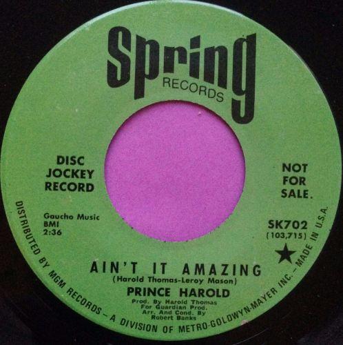 Prince Harold- Ain't it amazing- Spring DJ E+