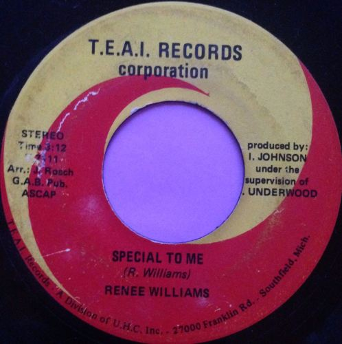Renee Williams - Special to me - TEAI Records - VG+