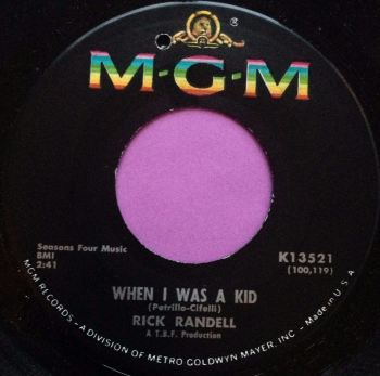 Rick Randall-When I was a kid-MGM E+