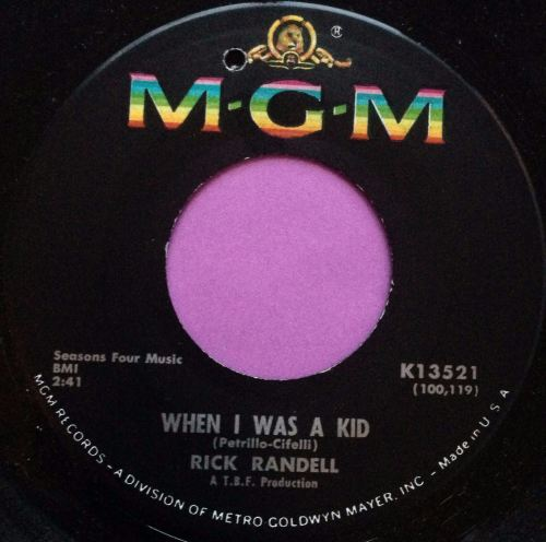 Rick Randall-When I was a kid-MGM E+