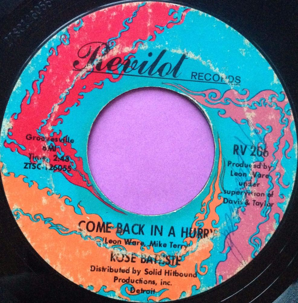 Rose Batiste-Come back in a hurry-Revilot vg+