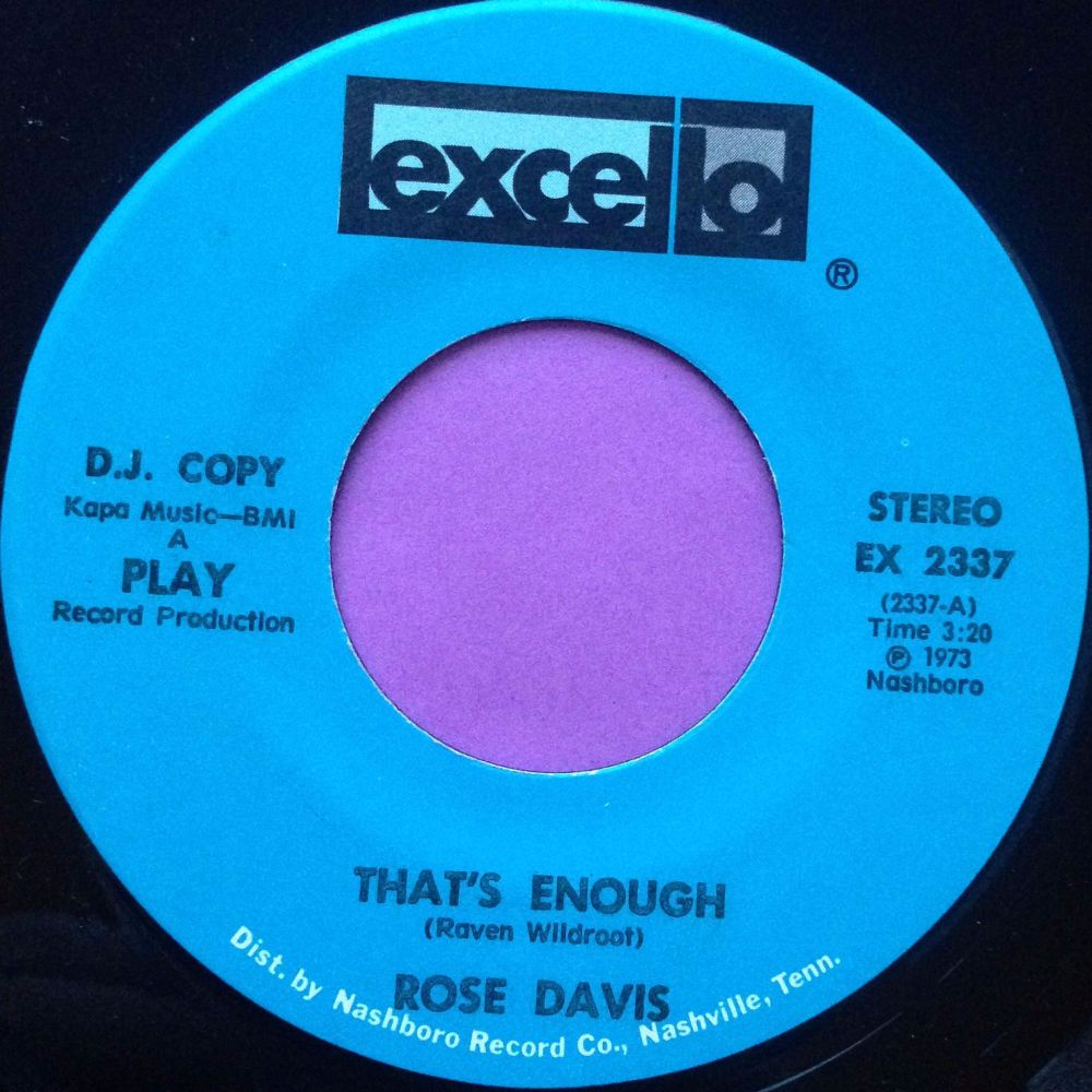 Rose Davis-That`s enough-Excello E+