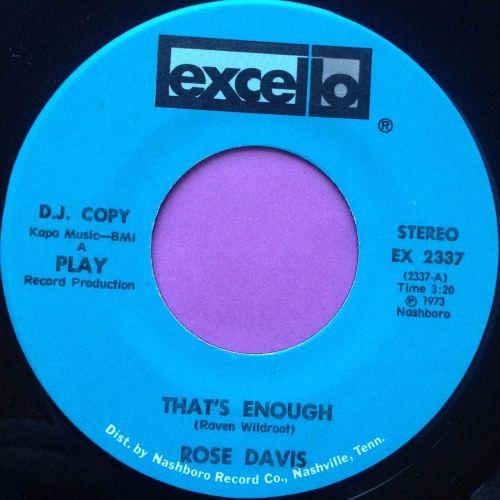 Rose Davis-That`s enough-Excello E+