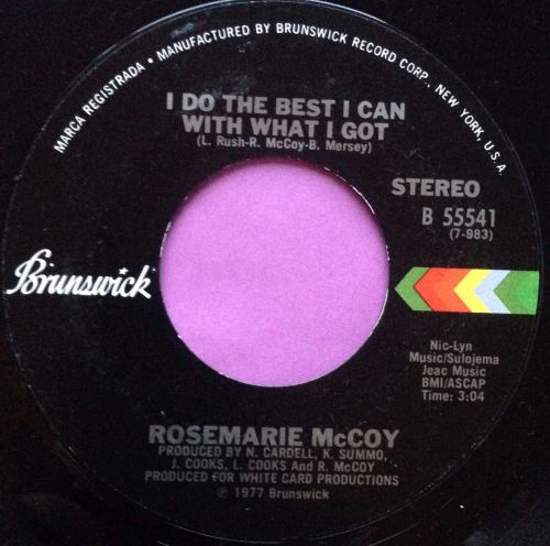 Rosemarie McCoy-I do the best I can-Brunswick M