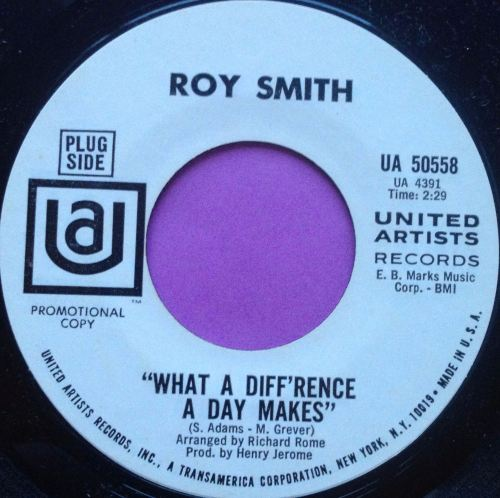 Roy Smith-What a difference a day makes-UA WD E+