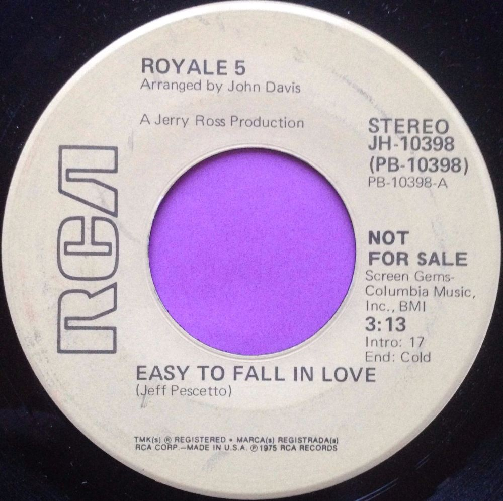 Royale 5-Easy to fall in love-RCA demo M-