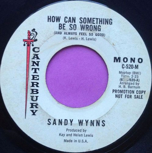 Sandy Wynns-How can something be so wrong-Canterbury E