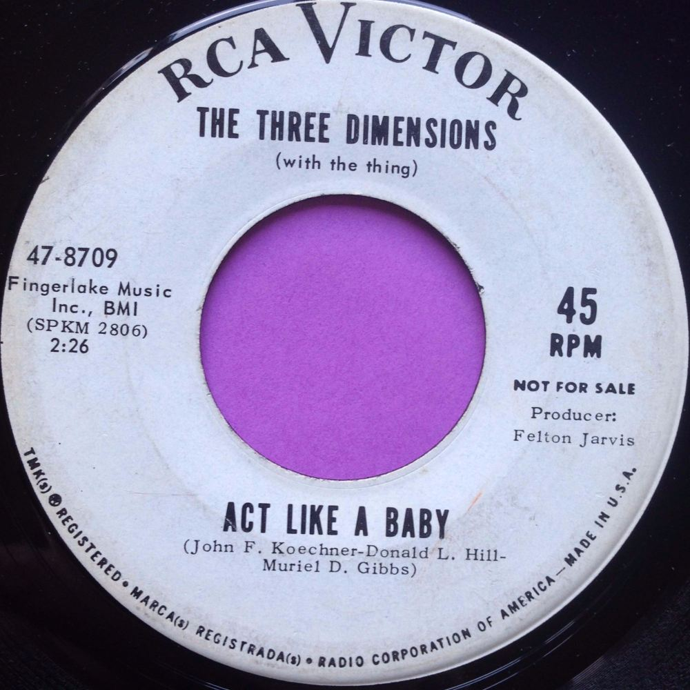 Three Dimensions-Act like a baby-RCA E