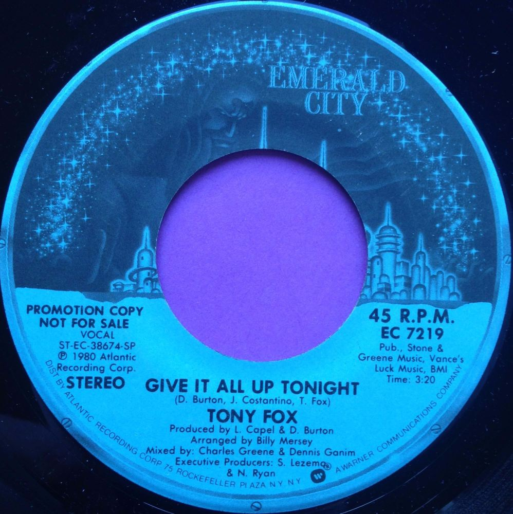 Tony Fox-Give it all up tonight-Emerald City M