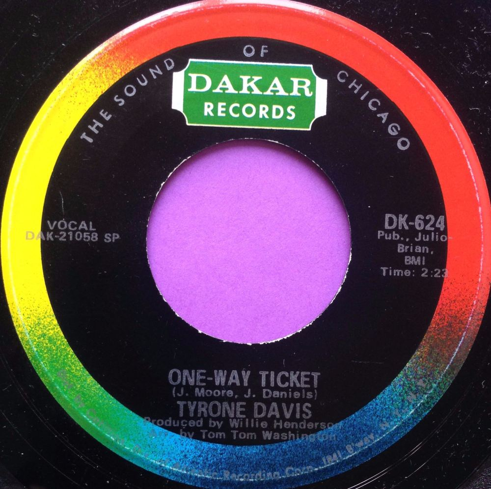 Tyrone Davis-One way ticket-Dakar M