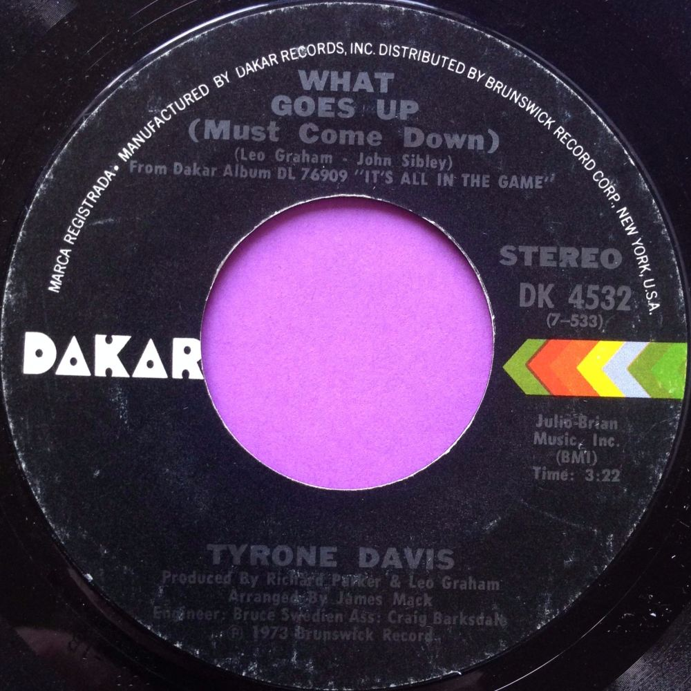 Tyrone Davis-What goes up-Dakar E+