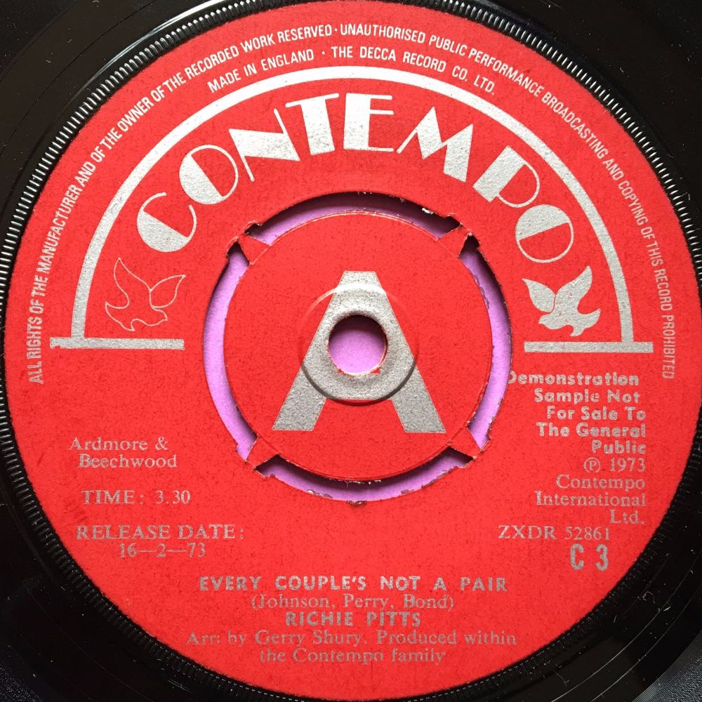 Richie Pitts-Every couple`s not a pair-UK Contempo Demo E+