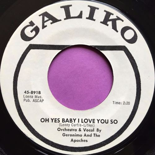 Geronimo and the Apaches-Oh yes baby I love you so-Galiko E