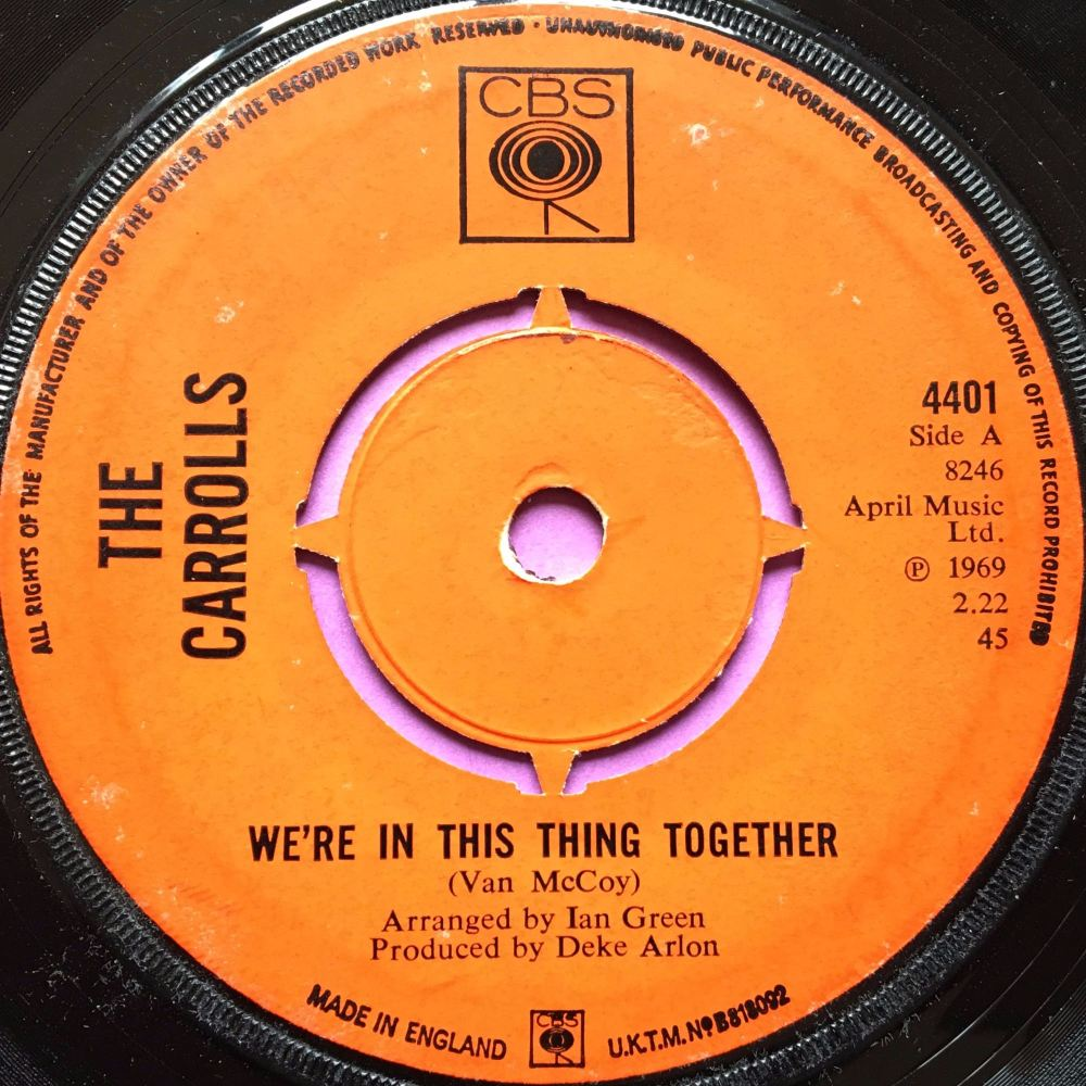 Carrolls-We`re in this thing together-UK CBS E
