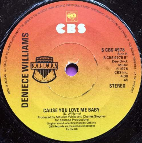 Denice Williams-Cause you love me baby-UK CBS E+