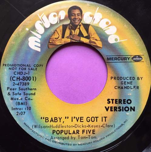 Popular Five-Baby I`ve got it-Mister Chand E