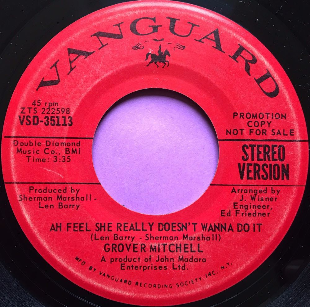 Grover Mitchell-Ah Feel she really  doesnt want to do it-Vanguard E+