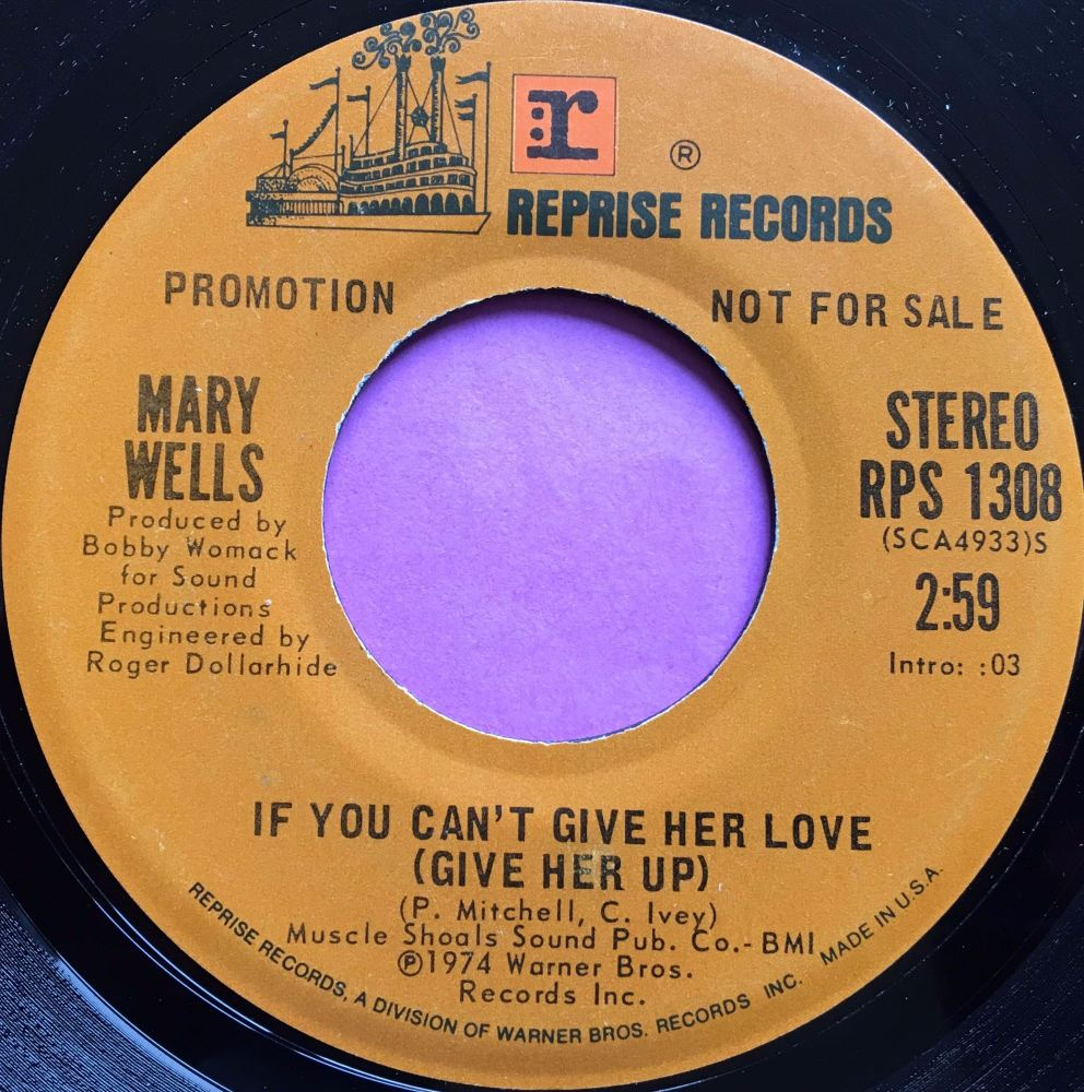 Mary Wells-If you can`t give her love-Reprise demo E+