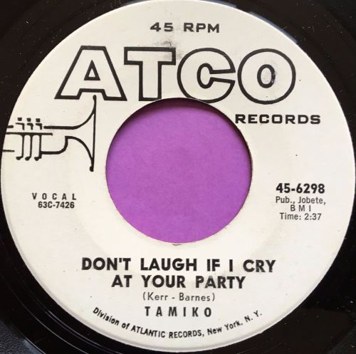 Tamiko-Don't laugh if I cry-Atco WD E+